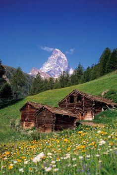 The Matterhorn, Valais, Switzerland - Luxury Log Cabins & Chalets (houseandgarden.co.uk)