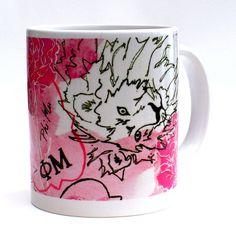 A great Phi Mu mug, comes in a box filled with zebra tissue paper. The perfect sorority gift by Greek Zebra - www.GreekZebra.com!