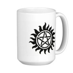 Shop Supernatural Symbol Coffee Mug created by SomethingLimited. Supernatural Symbols, Supernatural Merchandise, Mug Designs, Custom Mugs, Gifts For Him, Tea Cups, Coffee Mugs, Kitchen Products, Kara