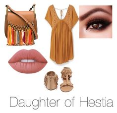 """Daughter of Hestia outfit"" by cheetahloverlol on Polyvore featuring MANGO, Qupid, Chloé and Lime Crime"