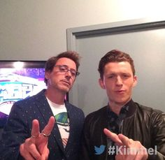 Spider-Man Homecoming: Robert Downey Jr. and Tom Holland