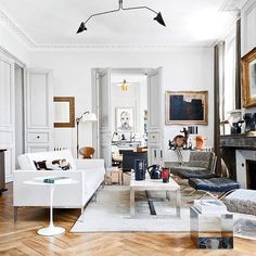 "meandmybentley: "" The Parisian apartment of architect Philippe Thelin and decorator Thierry Gonzal, located adjacent the cathedral of Saint Gatien in Tours, France, is a true reflection of their mutual interior tastes and curated sense of style...."