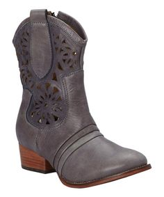 Another great find on #zulily! Blue Rose Leather Boot by Patron #zulilyfinds