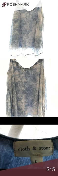 Cloth and Stone- stonewashed cami Amazing lightweight cami with the smooth texture Cloth & Stone always provides! This cami will not disappoint- perfect for layering or with your favorite skinny jeans! Barely worn at $15 is a steal! Cloth & Stone Tops Camisoles