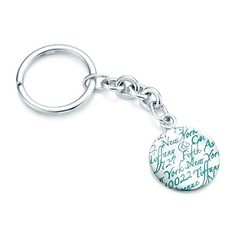 "HUMMM...maybe one of Gigi's big girls might like this...Tiffany Notes ""727 Fifth Avenue"" key ring in sterling silver."