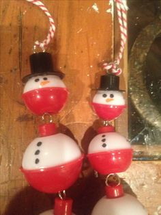 Fishing bobber snowmen!!!