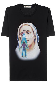 Undercover 'saint Mary' Print T-shirt Costume Collection, Undercover, Graphic Shirts, Apparel Design, Streetwear Fashion, Black Cotton, Shirt Style, Fashion Brands, Classic T Shirts