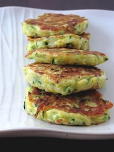 Zucchini and Summer Squash Fritters. These were really good filling to serve with a lighter entree (fish the like).