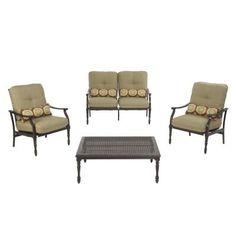 Martha Stewart Living Pembroke 4 Piece Patio Seating Set ADC SET 1137