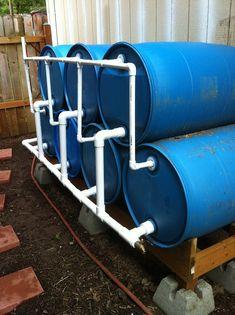 Rain Barrel Setup idea
