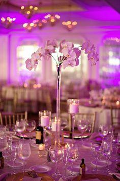 classy ballroom wedding reception idea; featured photographer: Kristen Weaver Photography