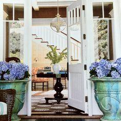 Love the hydrangea pots on the porch. Thanks Coastal Living.