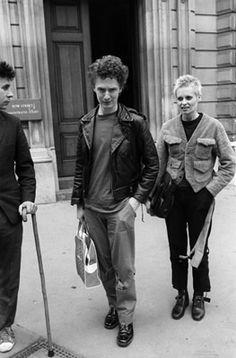 Vivienne Westwood with Malcolm McLaren.  (pin via John Barnes)