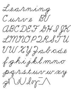Cursive writing fonts on word