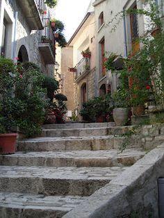 A street scene of San Marco dei Cavoti, in provincia di Benevento, Campania