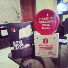 Emergency money box - Notebook & Pencil #Awesome #Fan #Unique #Gifts #Fun#Stationary #Office #Gadgets #GCC #JMENA #UAE #Kuwait #KSA #Jordan