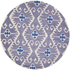 Shop for Safavieh Handmade Wyndham Lavender/ Ivory Wool Rug (8'9 Round). Get free shipping at Overstock.com - Your Online Home Decor Outlet Store! Get 5% in rewards with Club O! - 15431453