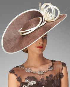 Women's Praline/Cream Clarick Twist Hat for next time I attend the Kentucky derby or a royal wedding