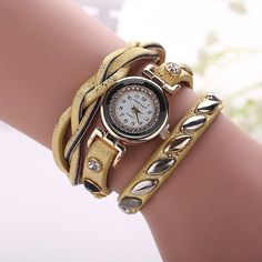 Women Leather Bracelet Watch New Design Fashion Rivet Quartz Watch Relojes Mujer Relogios Feminino Women Dress Watch BW1624