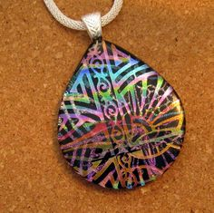 Dichroic Glass Pendant - Dichroic Jewelry - Statement Necklace - Fused Glass Pendant - Fused Glass Jewelry by GlassMystique on Etsy https://www.etsy.com/listing/211560453/dichroic-glass-pendant-dichroic-jewelry
