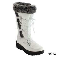 Nature Breeze Frost-01 Women's Stitching Faux Fur Up Mid-calf Snow Boots