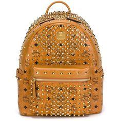 MCM Small Diamond Stark Backpack ($2,058) ❤ liked on Polyvore