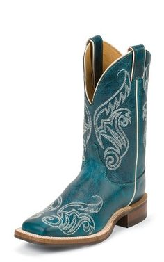 eef0dc4e8 Justin Boots  BRL211 TURQUOISE DAMIANA--love these!! Dresses With Cowboy  Boots