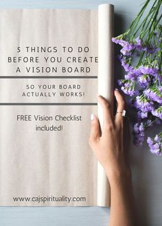 Are you ready to manifest your dreams? Well, then you should probably make a vision board. BUT, before you do that, make sure you do these 5 things so your vision board actually works!