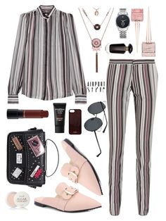 """Airport style"" by arohii ❤ liked on Polyvore featuring Giambattista Valli, Christian Louboutin, Victoria's Secret, MAC Cosmetics, Smashbox, Fresh, Vianel, polyvorecommunity and airportstyle"