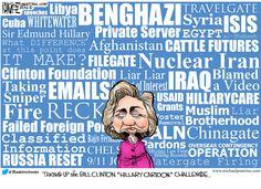 Hillary's many accomplishments. WORLD Editorial Cartoon