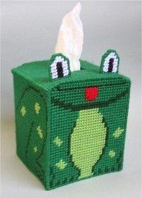everything plastic canvas | Plastic Canvas-Frog Tissue Topper Plastic-Canvas-Kits.Com