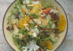 Raw fennel and cauliflower salad with orange.
