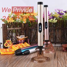 Creative Pen 1.75mm ABS/PLA DIY LED 3D Pen USB Port Adapter 3D Printing Pen Filament Intelligence Toy For Kid Design Drawing