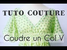Coudre un Col V avec un biais en parmenture - Tuto Couture DIY - YouTube.Prendre un biais pas trop large. moins de 25 mm