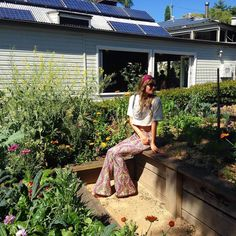 Forever dreaming of this wonderful place  Sitting in the veggie garden at @harvestnewrybar in the hinterlands of Byron Bay in Selene Flares. They source all their produce from these gardens their farm and local growers - you can't get it fresher or better than here! Take me back!