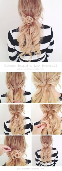 Easy Hairstyles Ideas The Rose Braid (Video), The rose braid looks way more comp… Easy Hairstyles Ideas The Rose Braid (Video), The rose braid looks way more complicated than it actually is. http://www.fashionhaircuts.party/2017/06/27/easy-hairstyles-ideas-the-rose-braid-video-the-rose-braid-looks-way-more-comp/