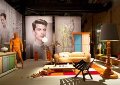 Unexpected Welcome exhibition by Moooi,   Milan exhibit design