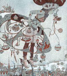 Peter Frolov - Piotr Frolov Art Deco Artists, Russian Folk Art, Bird Illustration, Doodle Drawings, Illustrations And Posters, Heart Art, Gravure, Conte, Art Deco Fashion