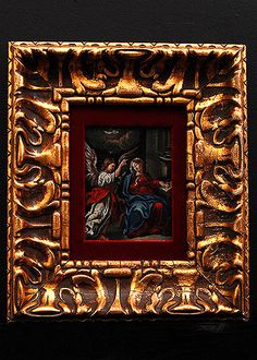 "The Annunciation"" 17th-Century Flemish Oil Painting on Copper"