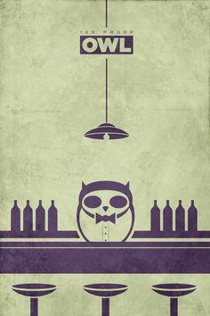 Classy bar owl