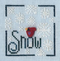 Garden Grumbles and Cross Stitch Fumbles: No Snow - Just Frost in the Morning