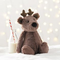 Medium Bashful Reindeer | Christmas |The Little White Company