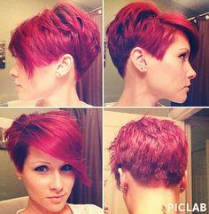 Rood is één van mijn favoriete kleuren! Ook die van jou? 11 rode pixie kapsels die gezien mogen worden!