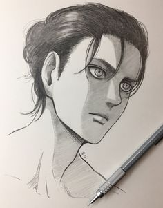 Fan artist for fun.*Italy*shingeki no kyojin is my creed M Anime, Anime Guys, Anime Art, Anime Boy Sketch, Art Drawings Sketches Simple, Attack On Titan Eren, Attack On Titan Fanart, Anime Character Drawing, Animes Wallpapers