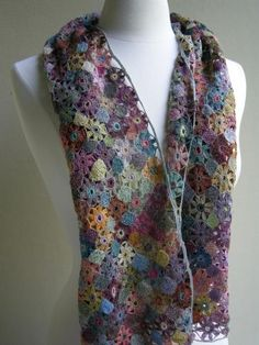 Sophie Digard's hand crocheted scarf in beautifully soft and natural coloured dyes