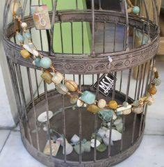 """""""Sea and Sand"""" long necklace Grapevine Wreath, Grape Vines, Wreaths, Jewelry, Home Decor, Tes, Garlands, Jewellery Making, Jewlery"""