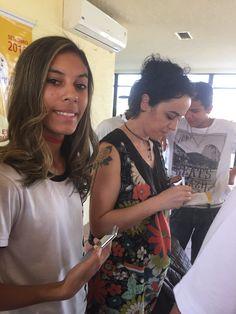 com a escritora Márcia Tiburi  Dia 15 setembro 2015 - E.E.JOSÉ GIORGI