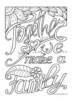 Quotation Colouring Pages Emoji Coloring Pages, Love Coloring Pages, Printable Adult Coloring Pages, Christmas Coloring Pages, Coloring Books, Flower Coloring Sheets, Fathers Day Coloring Page, Coloring Canvas, Pyrography Patterns