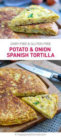 Potato & Onion Spanish Tortilla (Dairy-free, Gluten-free, Whole30)