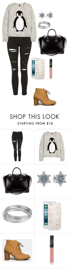 """""""Untitled #14"""" by mia-tox ❤ liked on Polyvore featuring Topshop, H&M, Givenchy, Pandora, Worthington, Sonix, Nature Breeze and NARS Cosmetics"""